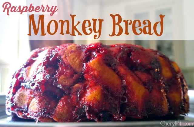 Raspberry Monkey Bread