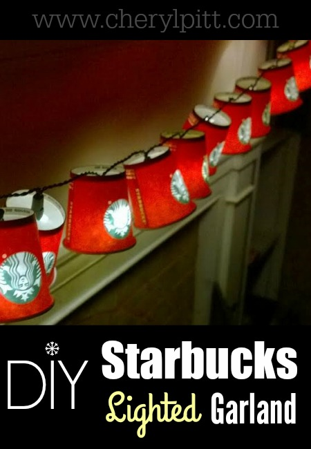DIY Starbucks Lighted Garland